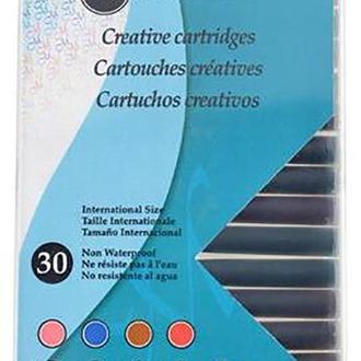 Набор картриджей с чернилами для перьевой ручки, 9 цветов, 30шт, Manuscript