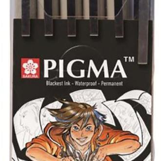 Набор лайнер для манга Sakura Manga Pigma Tool Set 6 шт