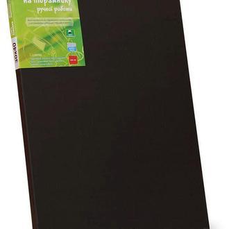 Холст на подрамнике Rosa мелкое зерно хлопок черный акриловый грунт 20 x 30 см (4820149872698)