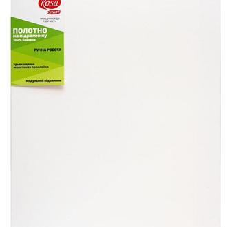 Холст на подрамнике Rosa мелкое зерно хлопок акриловый грунт с боковой натяжкой 35 x 35 см (4820149881607)