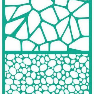 Трафарет на клеевой основе №1804 Текстуры 13х20см