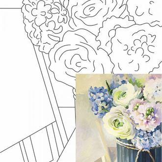 Холст на картоне Rosa с контуром Натюрморт № 26 30 x 40 см (4823086705142)