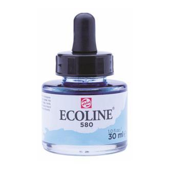 Краска акварельная с пипеткой, Голубая пастел. (580), Ecoline, 30 мл, Royal Talens