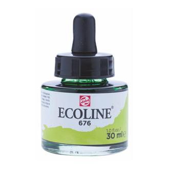 Краска акварельная с пипеткой, Травяная зеленая (676), Ecoline, 30 мл, Royal Talens