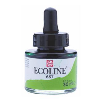 Краска акварельная с пипеткой, Зеленая бронзовая (657), Ecoline, 30 мл, Royal Talens