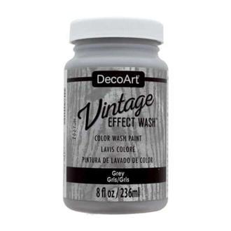 Краска акриловая, ультра-матовая, Серая (18), 236мл, Vintage Effect Wash, DecoArt