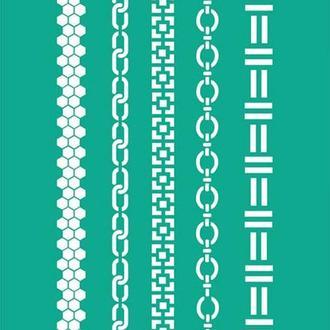 Трафарет на клеевой основе №202 Абстракция 13х20см