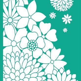 Трафарет на клеевой основе №1002 Цветы 13х20см