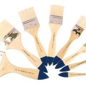 Кисть щетина флейц Kolos Bristle Wide 8043 № 30 короткая ручка (4280430030)