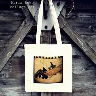 Сумка - торба з принтом «мечта сбылась»