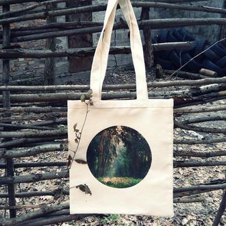 """Сумка торба з принтом """"Ліс"""""""