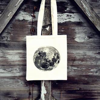 Місячна сумка - торба з принтом