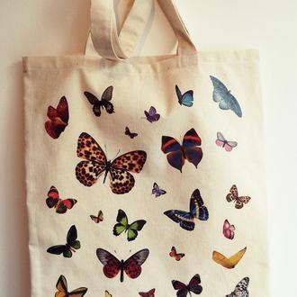 Еко торба сумка з метеликами