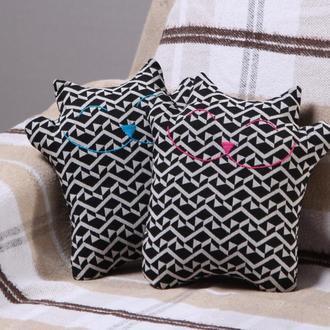 Подушки-игрушки Коты Счастливы