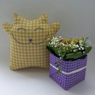 Подушка-игрушка Счастливый Кот