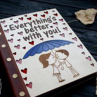 Деревянная книга о любви