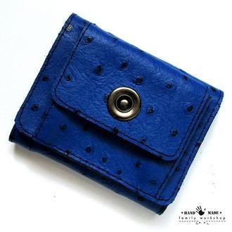 Маленький компактный кошелек из натуральной кожи ручной работы.
