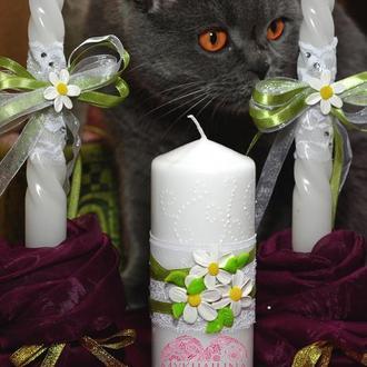 """Свадебные свечи """"FLOWERS"""""""
