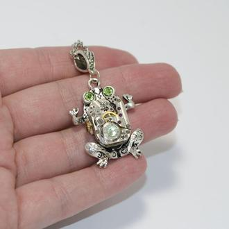 Кулон Лягушка жаба в стиле Стимпанк Steampunk
