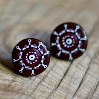 Сережки орнаментальні