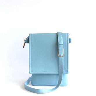Светло голубая сумочка для документов
