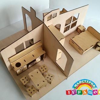 Кукольный домик, 1 этаж, игрушечный домик из фанеры