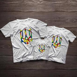 """Сімейні футболки ручного розпису для всієї родини """"Україна"""""""