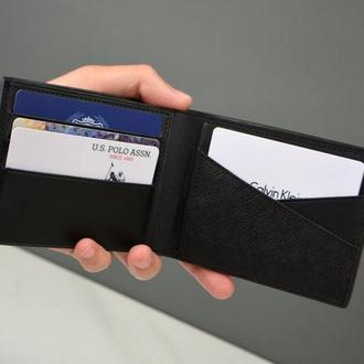 Мужское кожаное портмоне, Мужской кожаный бумажник, Мужской кожаный кошелек, Кожаное портмоне
