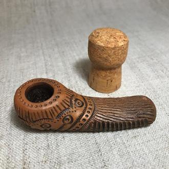 Курительная трубка глиняная