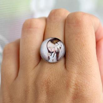 Милое кольцо с рисунком подарок подруге подарок сестре