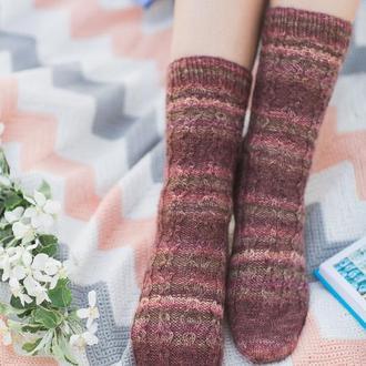 Вязаные носочки. Хюге-носки. Шерстяные носки