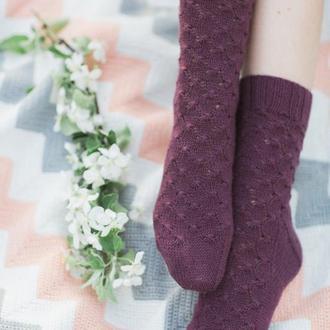 Вязаные носочки. Носочки с кашемиром. Шерстяные носки (в наличии)