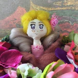 """Кукла-портрет коллекции """"Летний грильяж"""", Принцесса Роза"""