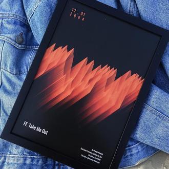 Музыкальный постер - формат А4