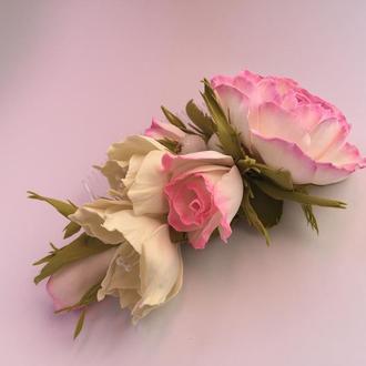 "Гребень ""Pink roses"""