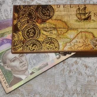 Купюрница - шкатулка для денег