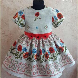 Платье на девочку в этно стиле