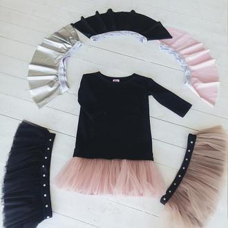 Комплект платье-трансформер Airdress (черный верх + 6 съмных юбочек)