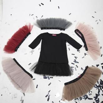 Комплект платье-трансформер Airdress (черный верх + 6 съемных юбочек)