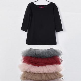Комплект платье-трансформер Airdress (черный верх + 5 съемных юбочек)