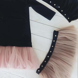 Комплект платье-трансформер Airdress (черный верх + 3 съемные юбочки)
