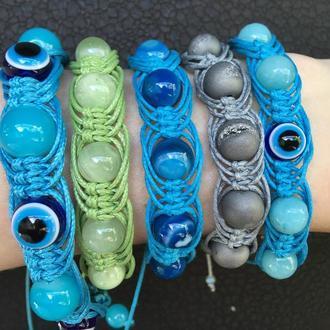 браслеты шамбала - арахна с натуральными камнями