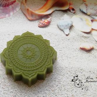Мыло-пилинг для сухой, чувствительной, с высыпаниями кожи с зеленой глиной