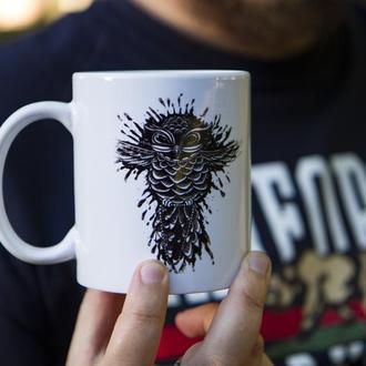 "Чашка з авторською ілюстрацією ""HIPSTER OWL"""