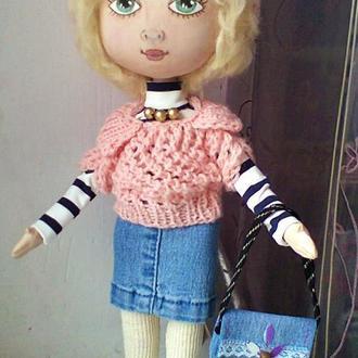 Текстильная интерьерная кукла Зоя.