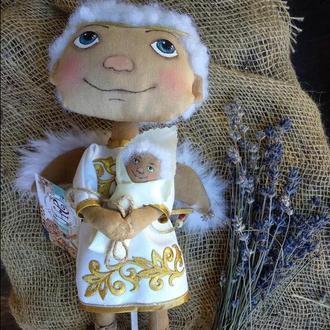 Кукла Ангел Текстильная Кукла Игрушка из Ткани Подарок на Свадьбу Игрушка Оберег Ангел Хенд Мейд