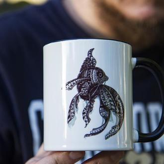 """Чашка з  ілюстрацією """"Magic fish"""""""