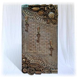 Ключница настенная. Предметы декора интерьера прихожей. Ключница деревянная