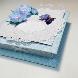 Подарочная коробка-открытка для денег