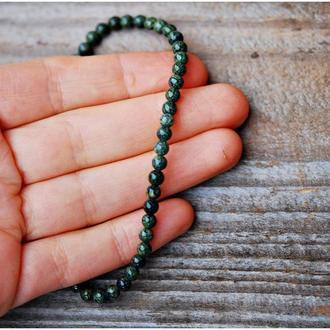 Мужской браслет из натурального змеевика